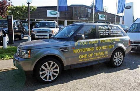 Range Rover Owner Advertises Faults On Lemon Parked
