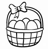 Easter Basket Coloring Egg Baskets Pages Draw Drawing Print Sheets Printable Picnic Bunny Bucket Colouring Clipart Template Carton Drawings Netart sketch template