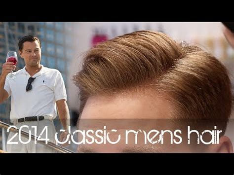 wolf  wall street hairstyle  classic mens hair
