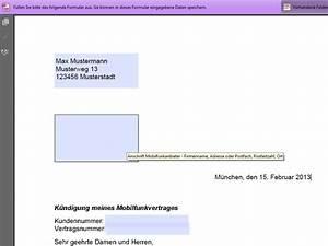 Vodafone Rechnung Ausdrucken : handyvertrag k ndigung pdf vorlage download chip ~ Themetempest.com Abrechnung