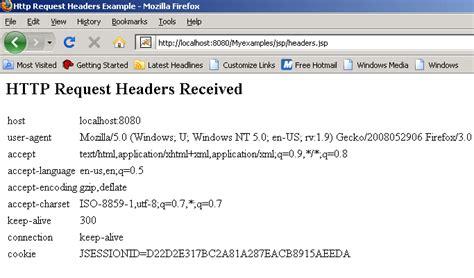headers request jsp retrieve using code source roseindia