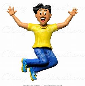 Clay Illustration of a 3d Happy and Energetic Cheering Man ...