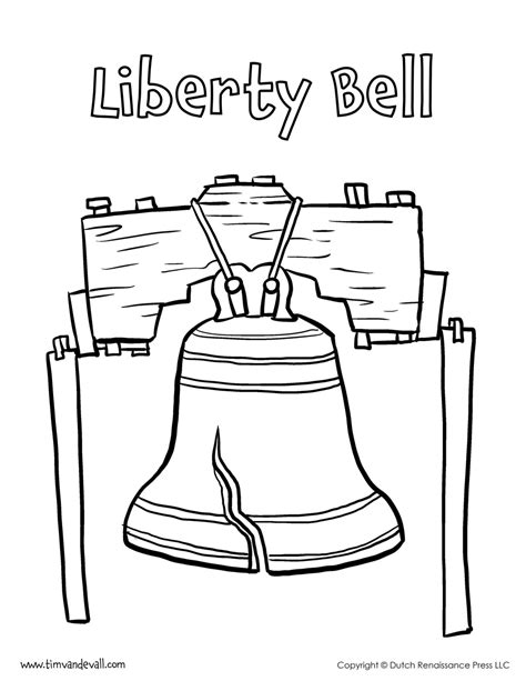 Liberty Bell Coloring Page Printable by Liberty Bell Coloring Page Tim S Printables