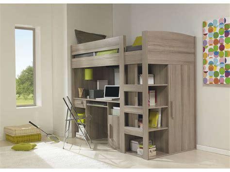 lit combiné bureau conforama lit mezzanine 90x200 cm montana chêne gris vente de lit