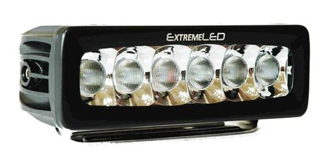 6 quot led light bar 2 400 lumen flood beam single