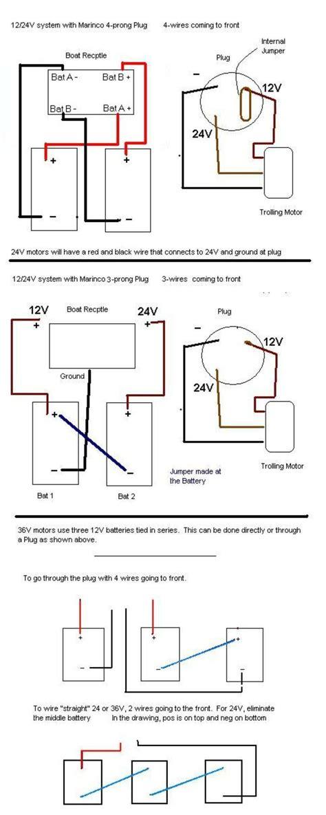 24 Volt Wiring by 12 24 Volt Trolling Motor Wiring Diagram Free Wiring Diagram
