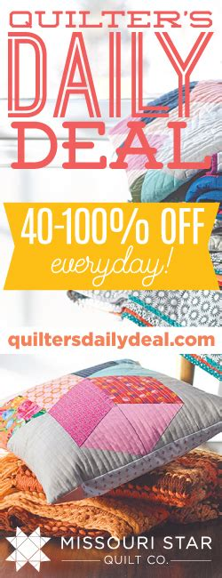 missouri quilt co daily deal the cutting table quilt a for quilters by