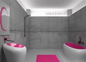 deco salle de bain en gris exemples d39amenagements With deco salle de bain gris