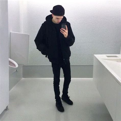 All black outfit boy tumblr grunge aesthetic - Buscar con Google | u2022 Outfit u2022 | Pinterest ...