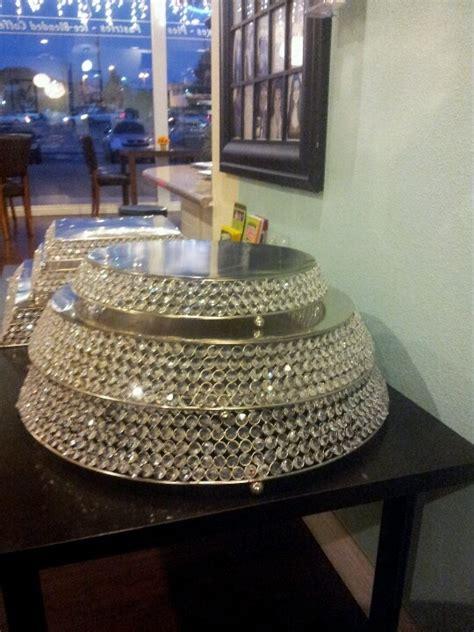 rhinestone cake stand bling wedding cake stand drum 18