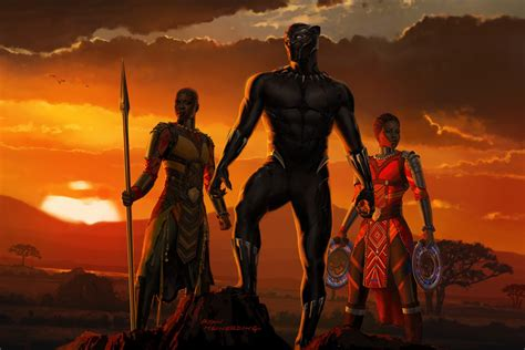 Black panther was the first black superhero to appear in mainstream american comics, introduced in 1966 in an issue of the fantastic four. New Black Panther poster from D23 revealed - Lyles Movie Files