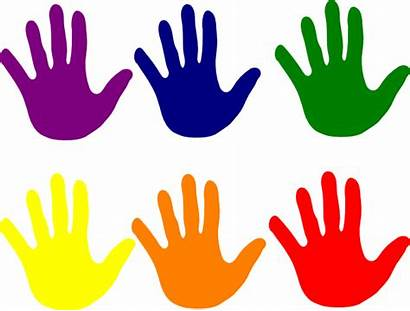 Hands Colors Clip Clipart Various Cliparts Vector