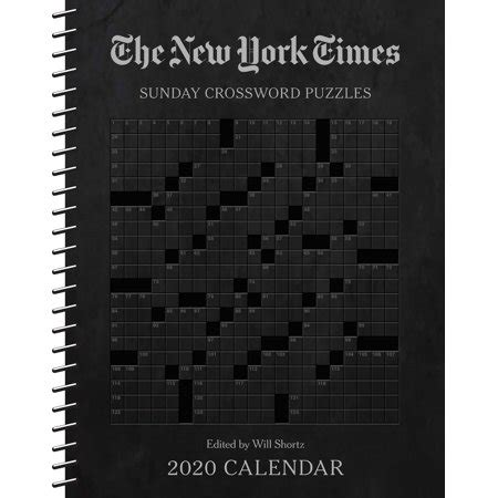 york times sunday crossword puzzles weekly planner
