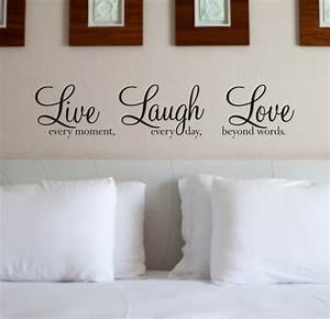 live laugh love wall art sticker wall quote wa088x With live love laugh wall decor