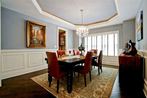 Benjamin Moore Mink Dining Room Traditional With Dark Wood