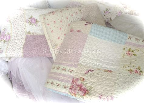 shabby chic bedding ebay uk 6 piece queen bed patchwork quilt bedspread coverlet set vintage floral lavender ebay