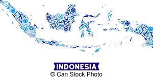 indonesia map vector clip art illustrations