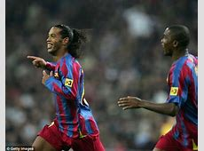 Real Madrid rejected Barcelona's Ronaldinho because he was
