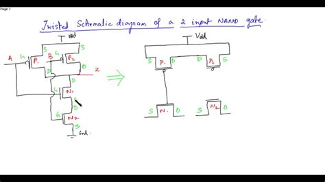 schematic diagram  layout   input nand gate youtube