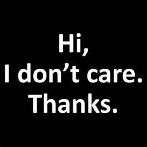 Hi! I Don't Care. Thanks. T-Shirt Funny Sarcastic Rude ...