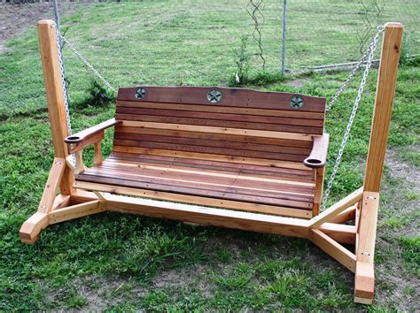 woodguide plans  bench swing