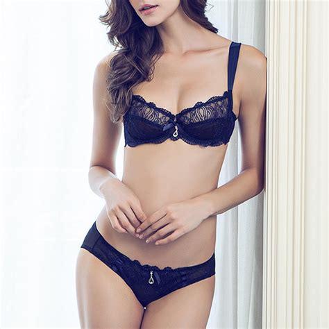 bras bra sets ultra thin lace mesh embroidery transparent fashion bra set  listed