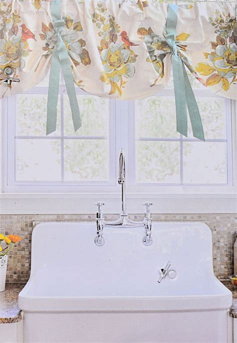 envogue french country lined kitchen window valance