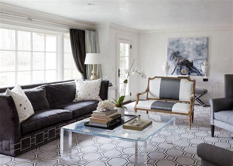 dark gray velvet sofa contemporary living room