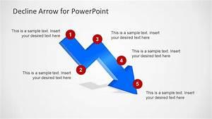 Decline Arrow For Powerpoint