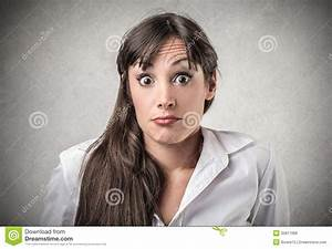 Woman With A Surprised Expression Royalty Free Stock ...