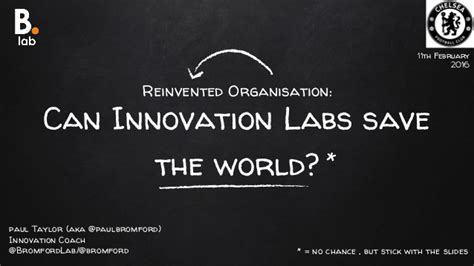 Can Innovation Labs Save The World?