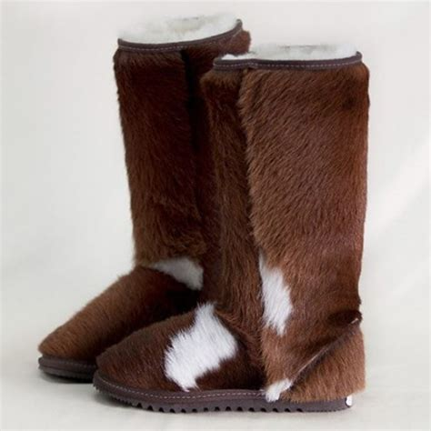 Cowhide Ugg Boots by Cow Hide Ugg Boots Eagle Wools Australian Made