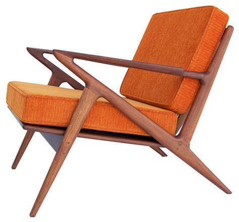 z accent chair electric orange midcentury armchairs