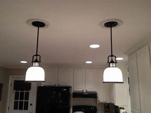 Recessed light pendant baby exit