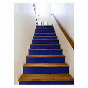 Contre Marche Deco : film adh sif contremarche bleu fonce stairs stairs deco escalier decoration escalier et ~ Dallasstarsshop.com Idées de Décoration
