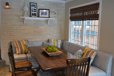 Upholstered Banquette Seating Dining Room Modern With