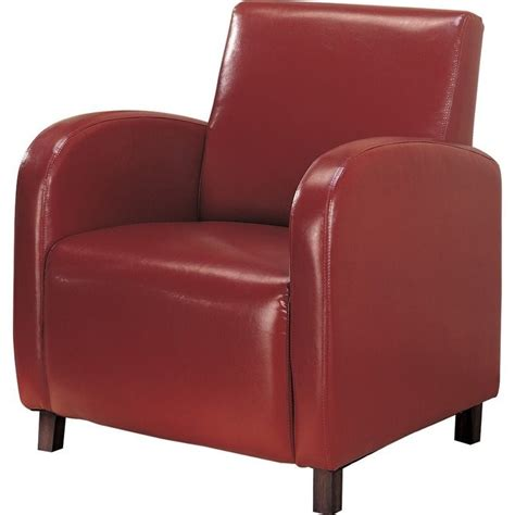 coaster accent faux leather club arm chair in 900335