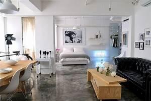 Studio lofts for Open plan studio apartment design