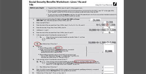 Social Security Benefits Tax Worksheet Calculator  Natural Buff Dog