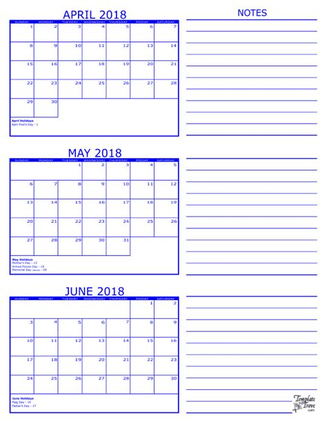 Three Month Calendar Template Trove by 3 Month Calendar 2018
