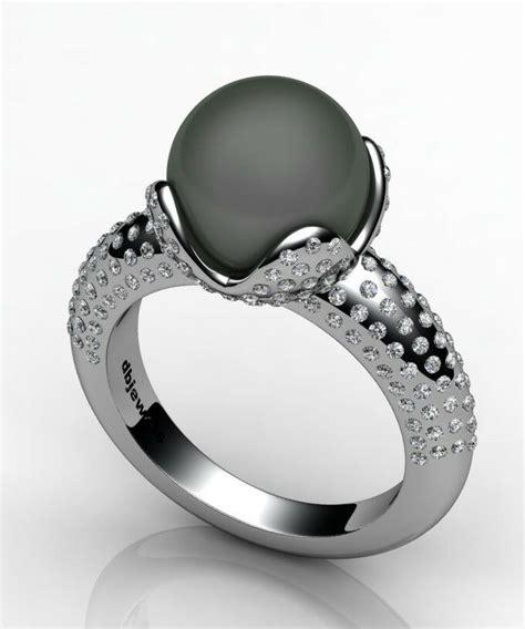 black pearl wedding rings white gold diamond 0 80 ctw and black pearl 10mm ring ebay