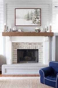 Brick, Fireplace, Mantle, 11, U2013, Decorathing