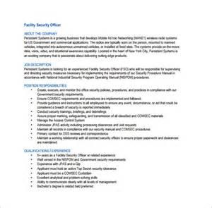 12 security officer description templates free