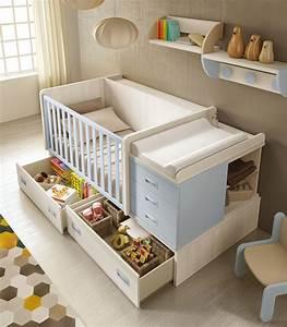 Lit Enfant Garcon : chambre b b gar on bc30 avec coffres de rangement ~ Farleysfitness.com Idées de Décoration