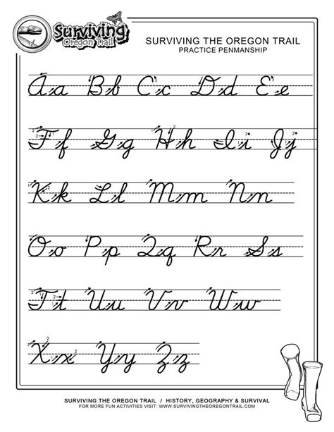 free printables cursive handwriting worksheets