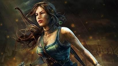 Lara Croft Raider Tomb Wallpapers Illustration Games