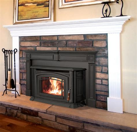 I Like This Pellet Stove With A Mantel Remodel
