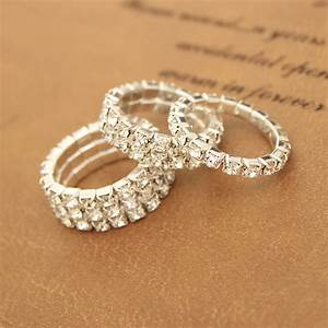 Fashion National Style Wedding Rings For Women Crystal