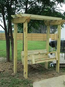 DIY Swing and Arbor (swing plans from from Ana White's