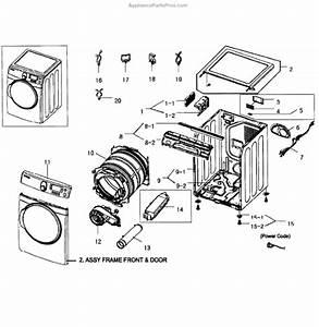 Parts For Samsung Dv448aep  Xaa-0002  Main Assy Parts